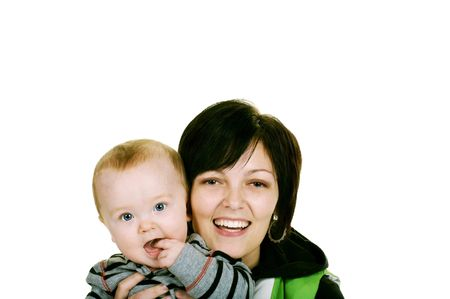 happy mama with her baby boy Stock Photo - 3976413