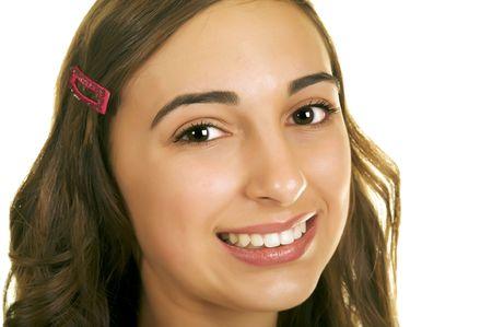 beautiful portrait of a brunette teenager Stock Photo - 3992849