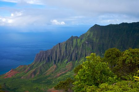 Vibrant Hawaiian Landscape Stock Photo - 4220541