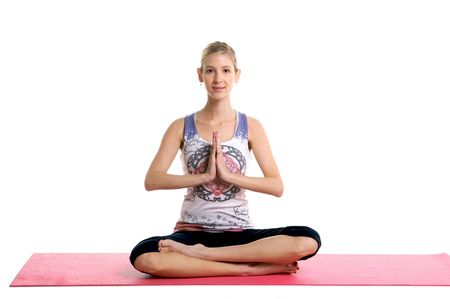 Blond Woman Doing Yoga Stock Photo - 4344692