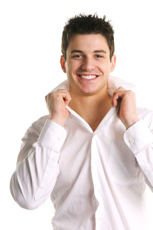 Attractive Young Brunette Male Stock Photo - 4344697