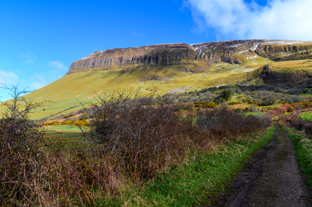 Benbulben table mountain landscape sligo ireland wild atlantic Stock Photo