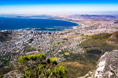 one day in Table mountain Stockfoto