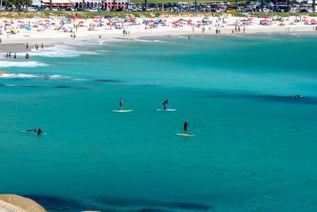 beautiful beach of camps bay Stock Photo