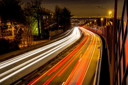 Arrival by nigth in Paris on N118 road