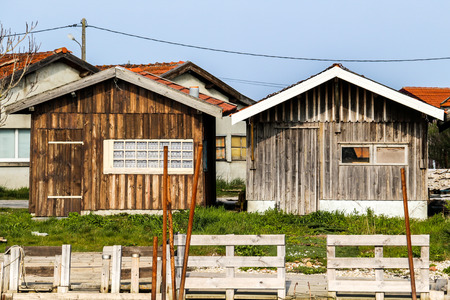 Fishing village of the port of Larros, Gujan-Mestras on the Arcachon Basin