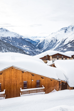 The Haute Tarentaise is a territory renowned for its world-famous ski resorts, Tignes, Val dIsere, Les Arcs, Villaroger and La Rosiere. It is a destination that attracts many vacationers every winter Stock Photo