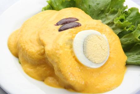 Papa a la huancaina, traditional Peruvian dish