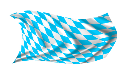 The Bavarian flag waving from the wind, proudly fluttering in the wind 写真素材