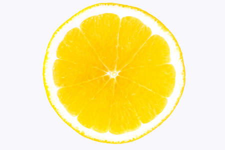 One big, beautiful orange on a white background