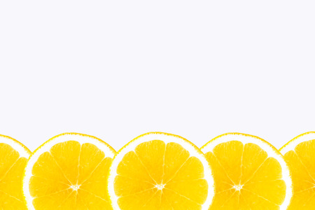 A few large oranges on a white background