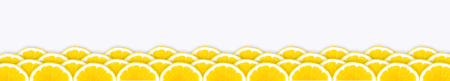 Several rows arranged with juicy, appetizing oranges on a white background