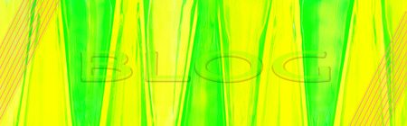 Yellow - green, oblong background from natural, colorful, glass bottles with BLOG inscription 写真素材