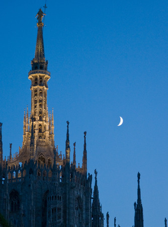 Cathedral of Milan at night. Stock Photo - 1576795