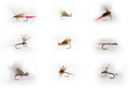 Fly-fishing lures Banco de Imagens - 5031380