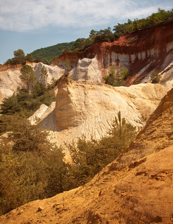 sand quarry: Ocres du Roussillon a.k.a Little Colorado Stock Photo