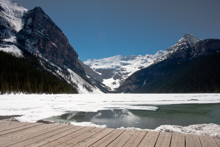 Lake louise in Banff national park in Canada photo