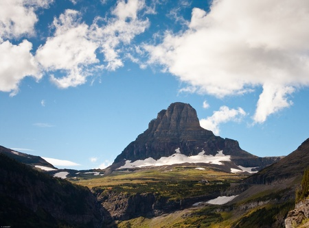 Landscape of Glacier national park during the fall Stock Photo - 10969646