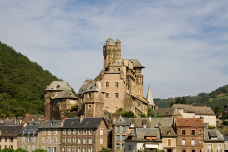 Town of Estaing in Aubrac, France