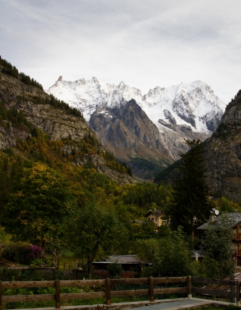 View of mountains from Courmayeur in Italy  Stock Photo - 16291427
