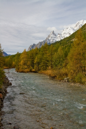 landscape near Courmayeur in Italy  Stock Photo - 16291443