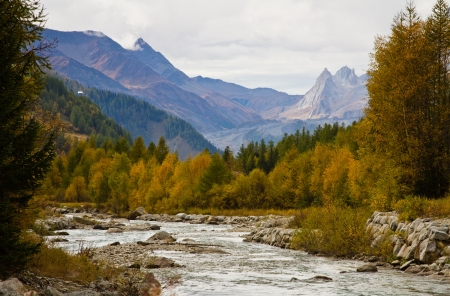 landscape near Courmayeur in Italy Stock Photo - 16424644