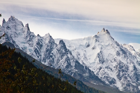 Aiguille du Midi in Chamonix, France Banco de Imagens - 16424645