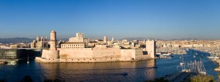 marseille: Gezicht op de haven van Marseille Stockfoto