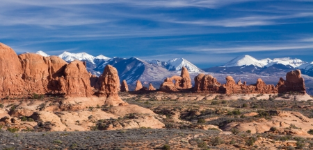 View of the windows in Arches National Park, Utah