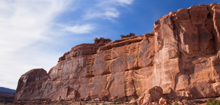 The Great Wall in Arches National Park, Utah