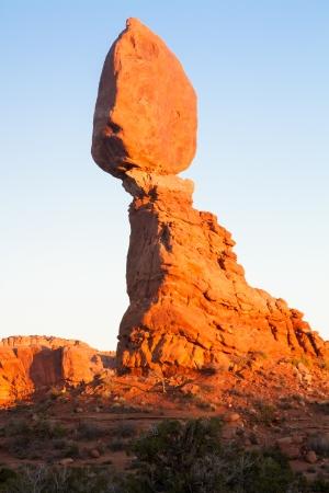 View of Balanced Rock in Arches Nationasl Park, Utah  Banco de Imagens