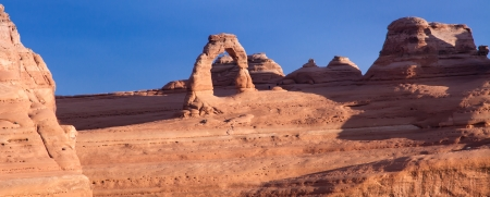 View of Delicat Arch in Arches National Park, Utah