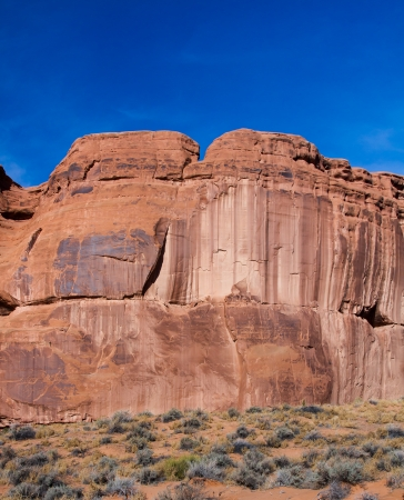 View of The Great Wall in Arches National Park, Utah