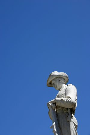 War memorial statue - With copyspace Stock Photo