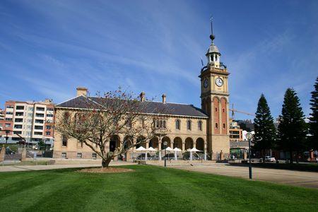 prominent: Customs House - Prominent historical landmark. Newcastle Australia. Stock Photo