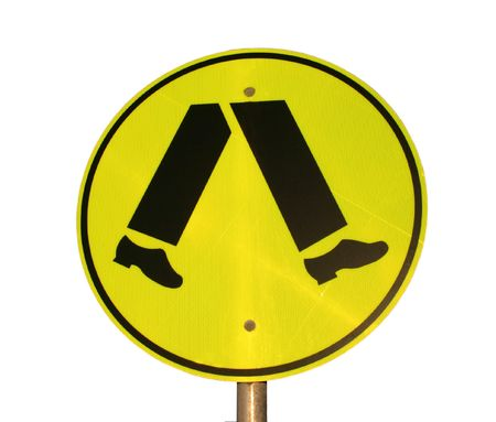 isolated pedestrian crossing sign Stock Photo - 2614456