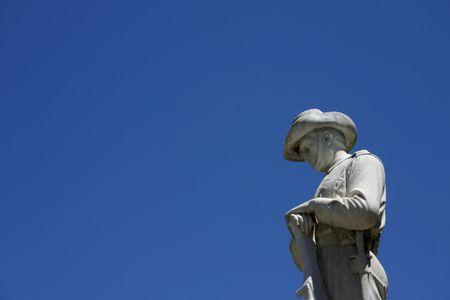 anzac: ANZAC statue - horizontal
