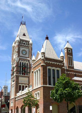 clocktower: Clocktower Perth Western Australia Stock Photo