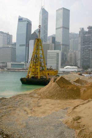 reclamation: Land reclamation Hong Kong Island