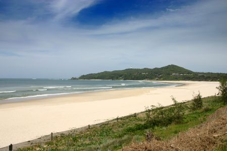byron: Byron Bay Beach - Popular tourist destination - Australia Stock Photo