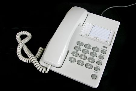 A telephone isolated on black Stock Photo - 3350034