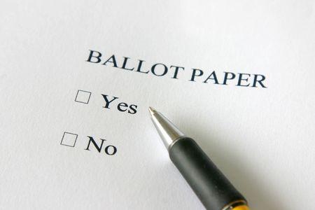 Referendum ballot paper - vote yes or no Stock Photo - 3644487