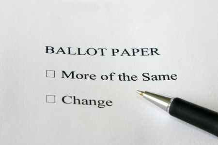 concept ballot paper Stock Photo - 3729374