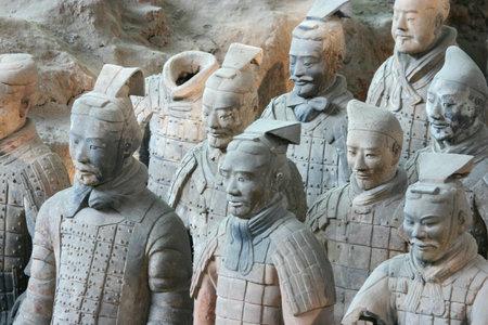 The famous terracotta warriors - Xian China Editorial