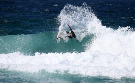 darren: MEREWETHER BEACH - MARCH 12: Darren ORafferty of Australia participates 4 star WQS Surfest professional surfing competition March 12, 2010 in Merewether, Australia.