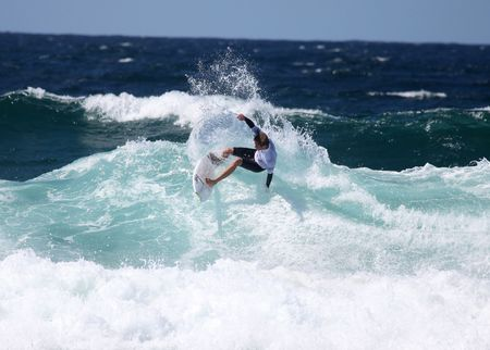 nick: MEREWETHER BEACH - MARCH 12: Nick Riley of Australia participates 4 star WQS Surfest professional surfing competition March 12, 2010 in Merewether, Australia.