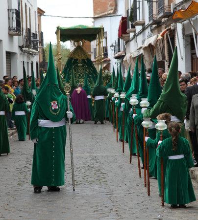 semana: ALMAGRO, SPAIN - APRIL 10 - 2009: Semana Santa - Holy Week, The traditional processions in the streets, April 10, 2009 in Almagro Spain