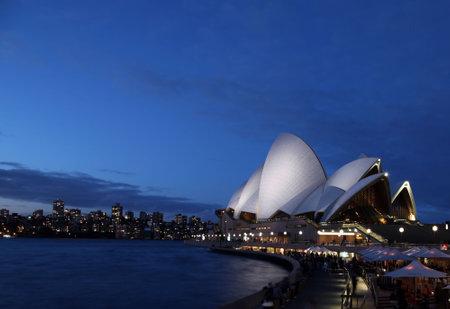 SYDNEY - AUGUST 7: Sydney Opera House at twilight is one of Sydneys most famous landmarks. August 7 2010 in Sydney, Australia.