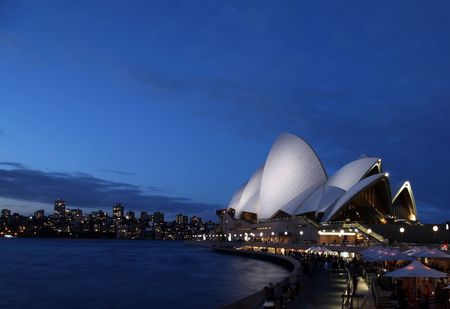 SYDNEY - AUGUST 7: Sydney Opera House at twilight is one of Sydneys most famous landmarks. August 7 2010 in Sydney, Australia.