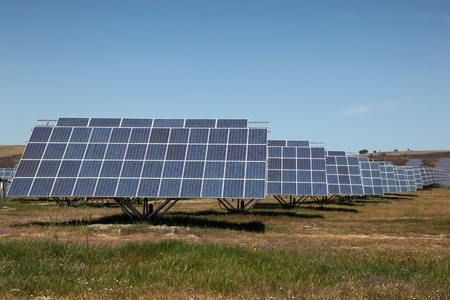 Large scale solar farm in Spain. Solar energy is becoming an important part of the energy mix. Stock Photo - 8535363